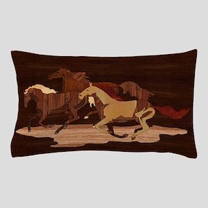 Wooden Horses Pillow Case