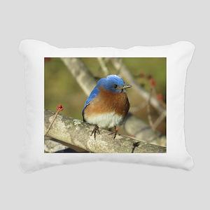 Bluebird Rectangular Canvas Pillow