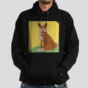 The Lonely Fox Sitting Viewing the Moon Hoodie