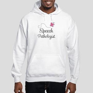 Speech Pathologist butterfly Hooded Sweatshirt