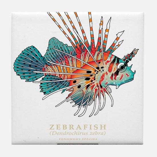 Cute Zebra fish Tile Coaster