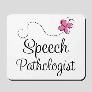 Speech Pathologist butterfly Mousepad
