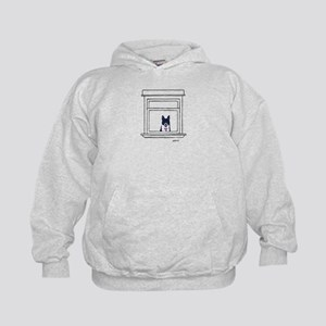 Border Collie in the Window Hoodie