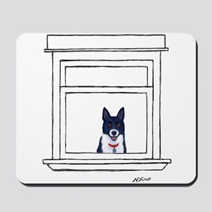 Border Collie in the Window Mousepad