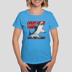 Great White Shark Women's Dark T-Shirt