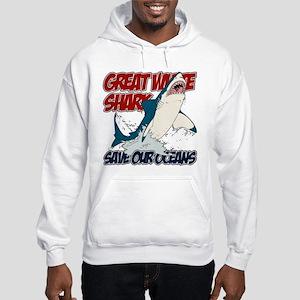 Great White Shark Hooded Sweatshirt