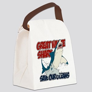 Great White Shark Canvas Lunch Bag