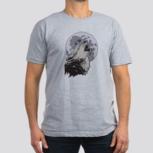 Howling Coyote Moon Men's Fitted T-Shirt (dark)