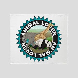 Animal Lover Logo Throw Blanket