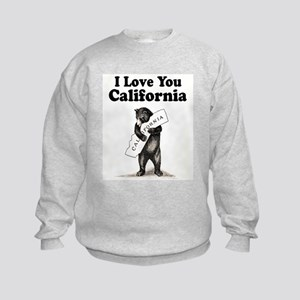 Vintage I Love You California State Bear Sweatshir