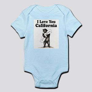 Vintage I Love You California State Bear Body Suit