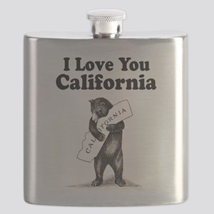 Vintage I Love You California State Bear Flask