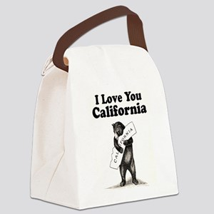 Vintage I Love You California State Bear Canvas Lu