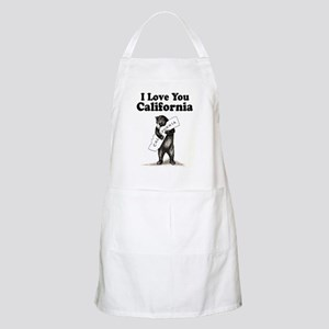 Vintage I Love You California State Bear Apron