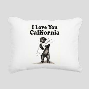 Vintage I Love You California State Bear Rectangul