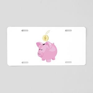 4. Save Penny Piggy Bank Money Aluminum License Pl