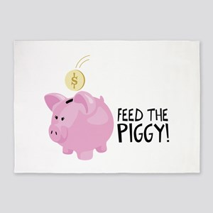 Feed The Piggy! 5'x7'Area Rug