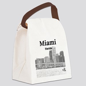 Miami Canvas Lunch Bag