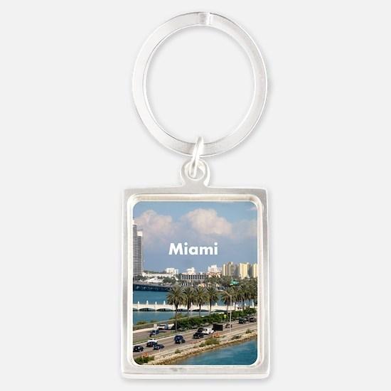 Miami Portrait Keychain