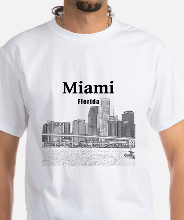 Miami White T-Shirt