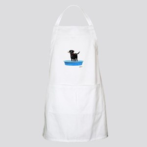 Black Labrador Retriever in kiddie pool Apron