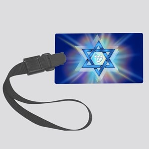 Radiant Magen David Large Luggage Tag