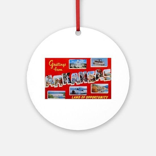 Arkansas Greetings Ornament (Round)