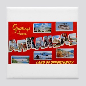 Arkansas Greetings Tile Coaster