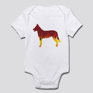 Beauceron Flames Infant Bodysuit