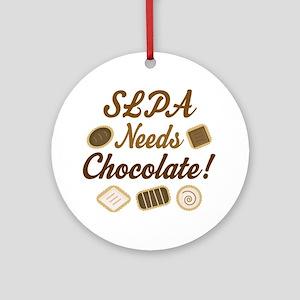 SLPA Needs Chocolate Ornament (Round)