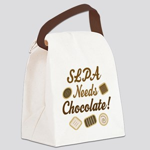 SLPA Needs Chocolate Canvas Lunch Bag