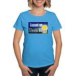 Sunset On Siesta Beach Women's Dark T-Shirt