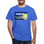 Sunset On Siesta Beach Dark T-Shirt