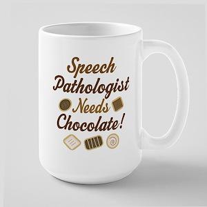 Speech Pathologist chocolate Large Mug