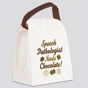 Speech Pathologist chocolate Canvas Lunch Bag