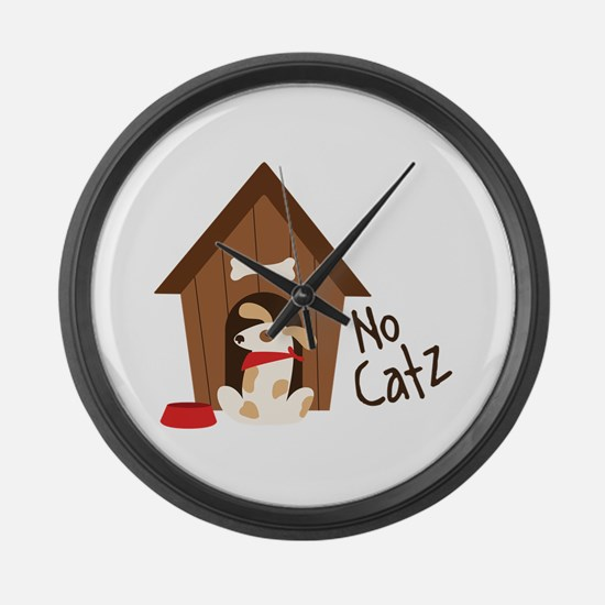 No Catz Large Wall Clock
