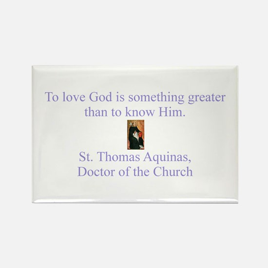 To Love God Rectangle Magnet