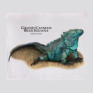 Grand Cayman Blue Iguana Throw Blanket