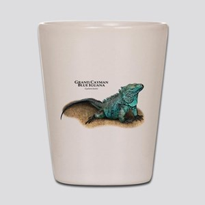 Grand Cayman Blue Iguana Shot Glass