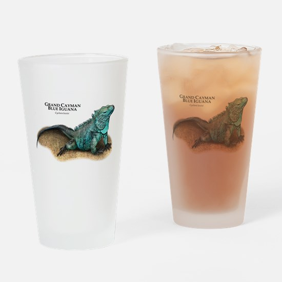 Grand Cayman Blue Iguana Drinking Glass