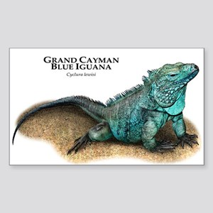 Grand Cayman Blue Iguana Sticker (Rectangle)