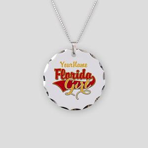 Florida Girl Necklace Circle Charm