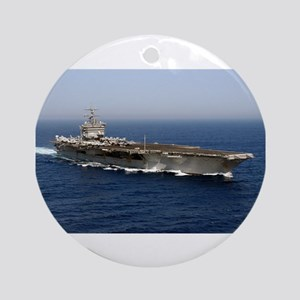 USS Enterprise CVN 65 Ornament (Round)