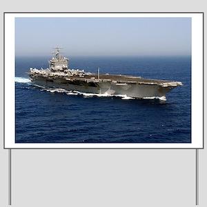 USS Enterprise CVN 65 Yard Sign