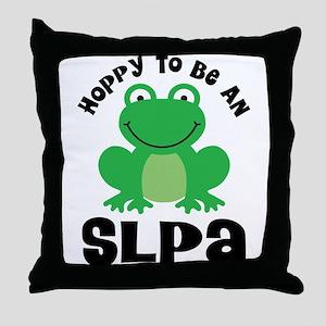 SLPA frog Throw Pillow