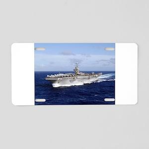USS Abraham Lincoln CVN-72 Aluminum License Plate