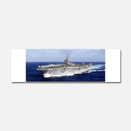 USS Abraham Lincoln CVN-72 Car Magnet 10 x 3