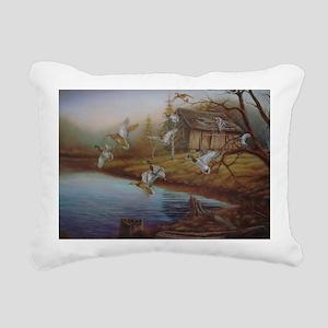 BACKWOODS MALLARDS Rectangular Canvas Pillow