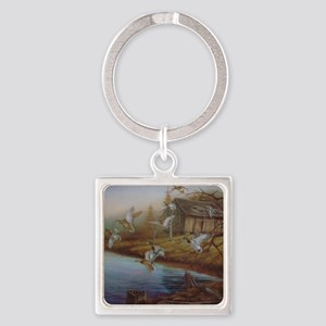 BACKWOODS MALLARDS Square Keychain