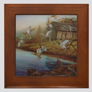 BACKWOODS MALLARDS Framed Tile